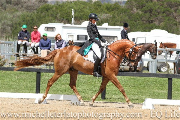 Alicia Ryan on Bluefields Furstentanz in the Advanced Freestyle.