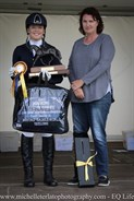 Haylea Wright won the Taylor Farley Memorial Award for rider highest placed Vic Junior Rider.