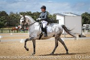 Michaela Glass on Cloudstreet in Advanced Freestyle at the Vic Youth Dressage Championships