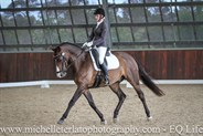 Phoebe Foulkes on Fire & Magic in the Novice 2.3 Horse at the Vic Youth Dressage Championships