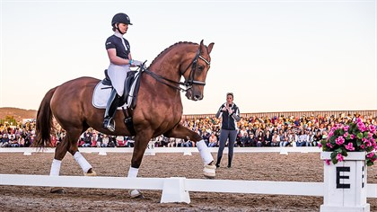 Abbie O'Brien and Rajah's Rave, Charlotte Dujardin Masterclass - Photo Stephen Mowbray