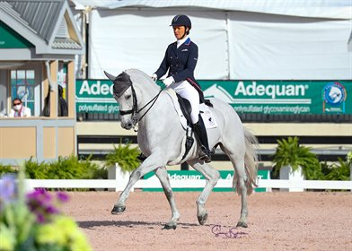 Adrienne Lyle and Harmony's Duval in the Grand Prix Special © Susan Stickle