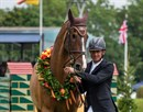 Adventure De Kannan retires at the Al Shira'aa Derby at Hickstead. © Sian Hayden
