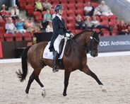 Alycia Targa and CP Dresden in the CDI4* Grand Prix Freestyle at WP © Roger Fitzhardinge