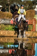 Amanda Ross and Koko Popping Candy jumping into the water in the CIC3* on their way to producing a score of 32.90 - © Geoff McLean/Gone Riding Media