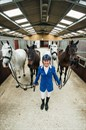 Andrew Hoy at home with his team of 4* horses in the U.K.