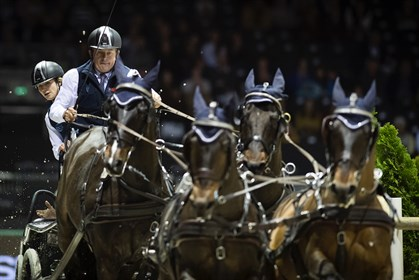 Boyd Exell and his team win the FEI World Cup Final for the ninth time. © FEI /Richard Juilliart