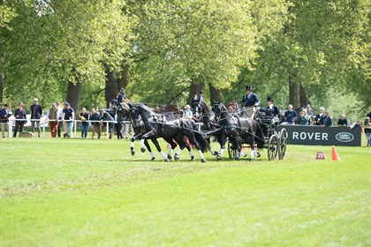Boyd Exell on his way to a tenth win at Windsor. © Royal Windsor Horse Show
