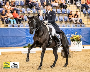 Brett Parbery and DP Weltmieser, winners of the Grand Prix CDI3* at the 2018 Sydney CDI. © Stephen Mowbray
