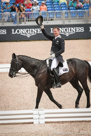 Brett Parbery waves to the crowd after his brilliant test on DP Weltmieser - © Michelle Terlato