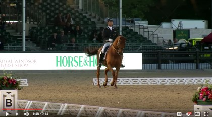 Carl Hester and Barolo, Royal Windsor Horse Show - screenshot