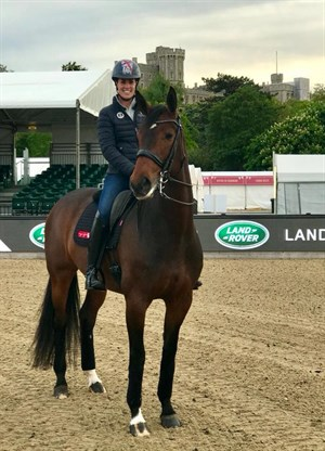 Charlotte Dujardin and Mount St John Freestyle at CHI Royal Windsor Horse Show - Photo: Charlotte Dujardin CBE Facebook page