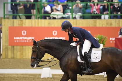 Charlotte Dujardin and Mount St John Freestyle at Hartpury's Festival of Dressage © Hartpury's Festival of Dressage