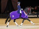 Charlotte Dujardin and Mount St John Freestyle, winners of the Dressage Future Elite Championship at the 2017 HOYS. Photo: Horse of the Year Show