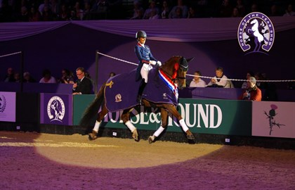 Charlotte Dujardin and Mount St John Valencia at the 2019 HOYS