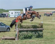 Chris Burton and Caliber Royale, winners in the Novice (Section I) - © William Carey