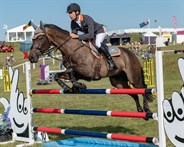 Chris Burton and Cooley Lands in the showjumping - © William Carey