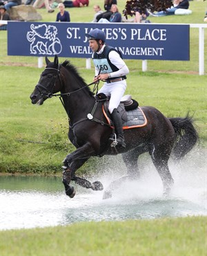 Chris Burton and Ploystar 1 at the St James's Place Barbury International Horse Trials © Adam Dale