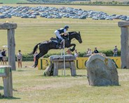Chris Burton and Polystar I in the CIC3* ERM class - © William Carey
