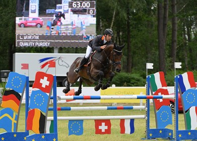 Chris Burton and Quality Purdey, winners of the CCI3* class at Saumur - © Equestrian Australia