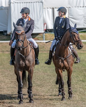 Chris Burton on Cooley Lands and Sammi Birch on Hunter Valley II - © William Carey