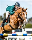 Chris Chugg and 'KG Queenie' win the Horseware Australia Jumping Prelude. © Stephen Mowbray