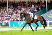 Christopher Burton and Graf Liberty in the dressage. © Elli Birch/BootsandHooves