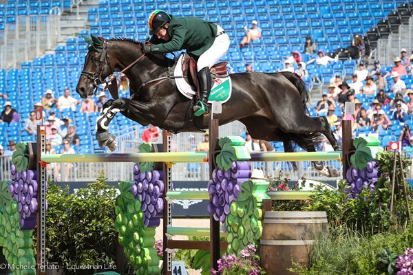 Cian O'Connor on Good Luck had a fabulous clear round today for team Ireland - © Michelle Terlato