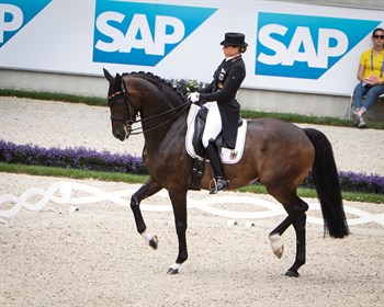Dorothee Schneider and Showtime were second in the CDIO5* GP