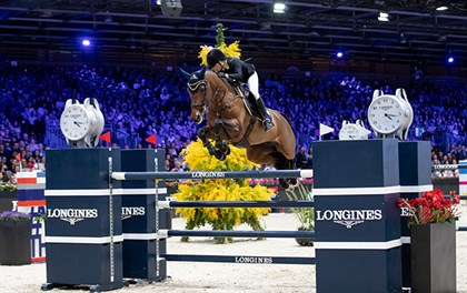 Edwina Tops-Alexander and California winning the Longines Grand Prix of Paris, 2018. © Sportfot & Jessica Rodrigues for EEM