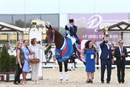 Elena Sidneva and Fuhur led Team Russia to victory in the Group C qualifier for the Tokyo Olympics © Maxima Stables