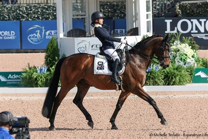 Emma Booth and Mogelvangs Zidane in the Individual Test Grade III - © Michelle Terlato