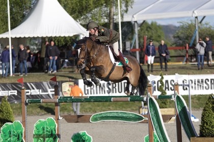 Geoff Curran and Ringwood Glen clinched victory for Ireland in the second round at the FEI Nations Cup Jumping 2017. © FEI/Hannah Stærkebye