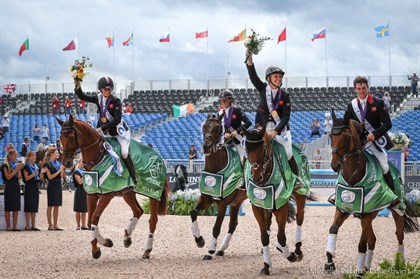 Great Britain's gold medal winning eventing team - © Michelle Terlato