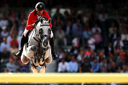 Gregory Wathelet of Belgium riding MJT Nevados S . © Dean Mouhtaropoulos/Getty Images for FEI