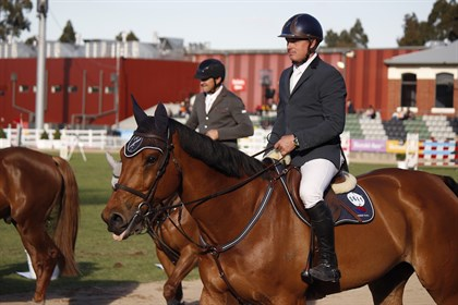 Jamie Kermond and Yandoo Oaks Constellation after their win - © Adele Severs/EQ Life