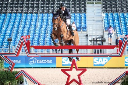 Jamie Kermond and Yandoo Oaks Constellation in the speed class - © Michelle Terlato