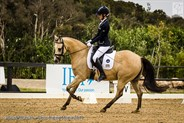 Jemma Dodd from SA and Class Capture performing solidly in the Pony Novice 2.2.