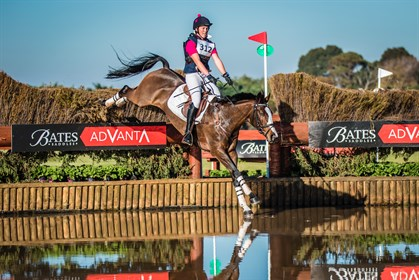 Jessica Woods and Just De Manzana lead the CCI3*	 class - ©Geoff McLean/Gone Riding Media