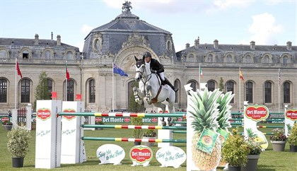 Jérôme Guery (BEL) and his 15 year old grey stallion Papillon Z, LGCT Chantilly 2017. © LGCT/Stefano Grasso