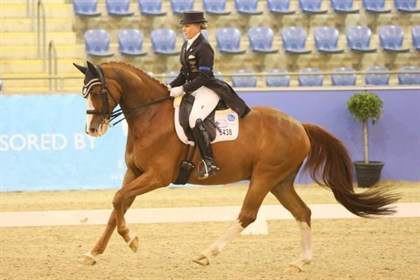 Judy Dierks and Diamond Star gained 72.25% to be second in the GP Freestyle - © Roger Fitzhardinge