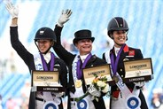 Laura Graves of the United States, Isabell Werth of Germany and Charlotte Dujardin of Britain © FEI/Martin Dokoupil