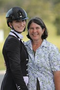 Mary Warren and her wonderful supportive mother at WP Dressage by the Sea CDI4* © Roger Fitzhardinge