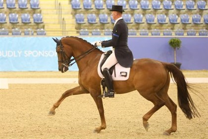 Matthew Dowsley and AEA Prestige, winners of the GP Freestyle with a national record of 75.78% - © Roger Fitzhardinge