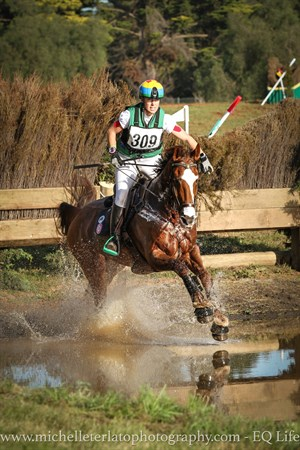 Megan Jones shows her experience in the water on Kirby Park Impress in the CCI3* © Michelle Terlato
