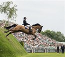 Michael Pender won the Al Shira'aa Derby at Hickstead becoming the youngest ever winner © Nigel Goddard
