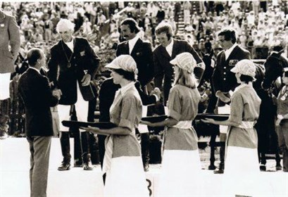 Montreal 1976. Medal Ceremony. © Equestrian Australia