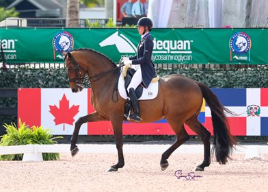 Olivia Lagoy-Weltz and Rassing's Lonoir at the 2021 CDI-W Wellington Photo © Sue Stickle