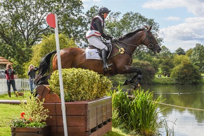 Piggy French and Vanir Kamira finished in second place at The Land Rover Burghley Horse Trials © Nixon Photo