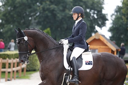 Rebecca Rooke and Muschamp Royal Black - Photo supplied.